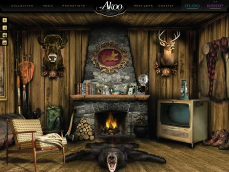 Akoo Clothing Website Interface