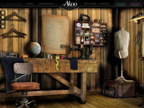 Akoo Clothing Wesite Interface