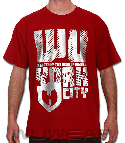 Wu Wear York T-Shirt - cardinal red ::