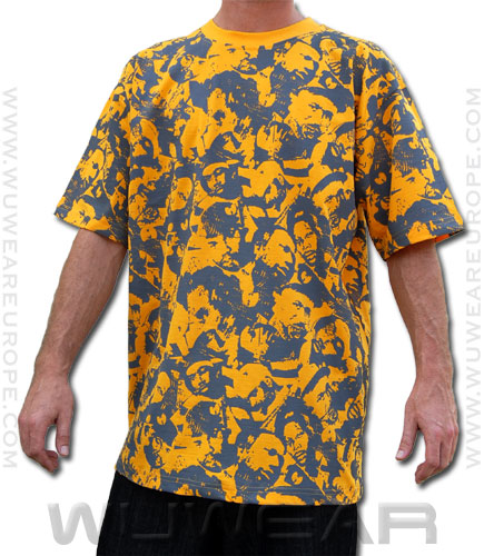 Clan Faces All Over Tee – yellow - Wuwear